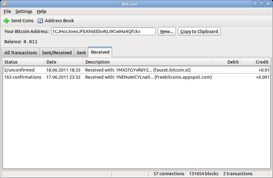 """Todas as transações feitas no programa da BitCoin são armazenadas nas """"carteiras"""" (Foto: Reprodução)"""
