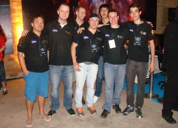O Keyd Team, de onde saiu o campeão Potiguar - de bermuda azul (Foto: Felipe Vinha)