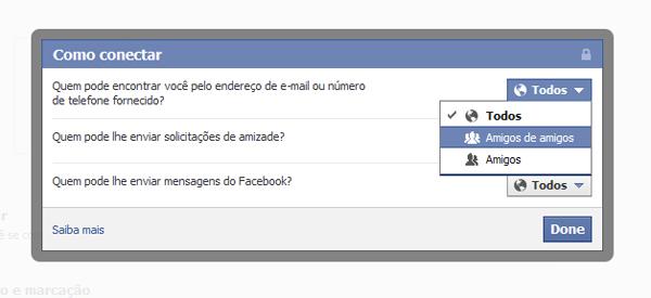 Controle pessoas que você conhece no Facebook (Foto: Aline Jesus/Reprodução)