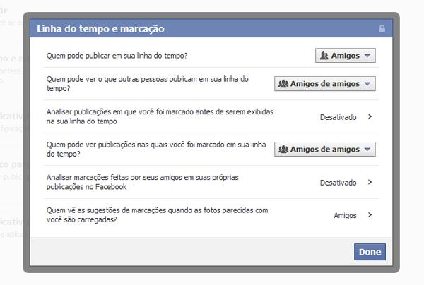 Controlando a privacidade da linha do tempo de seu Facebook (Foto: Aline Jesus/Reprodução)