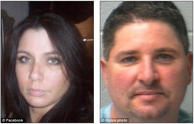 Marido, à direita, matou esposa, à esquerda, a facadas (Foto: Reprodução/ Daily Mail)