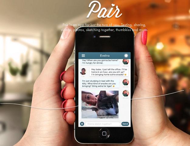 Pair é o aplicativo ideal para os casais apaixonados (Foto: Reprodução)