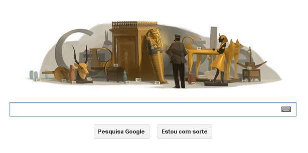 Howard Carter é homenageado em Doodle (Foto: Reprodução/TechTudo)