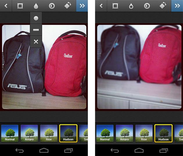 Antes e depois usando o TiltShift (Foto: Reprodução/ Gadgets)