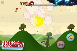 O game é um clone de Tiny Wings com personagens do desenho Pica Pau (Foto: Divulgação)