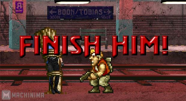Heróis de outros game aplica Fatality em Mortal Kombat (Foto: Reprodução)