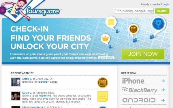 Foursquare se tornou uma verdadeira febre mundial (Foto: Reprodução)