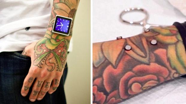 Jovem implanta imãs no braço para usar iPod sem pulseiras (Foto: Divulgação)