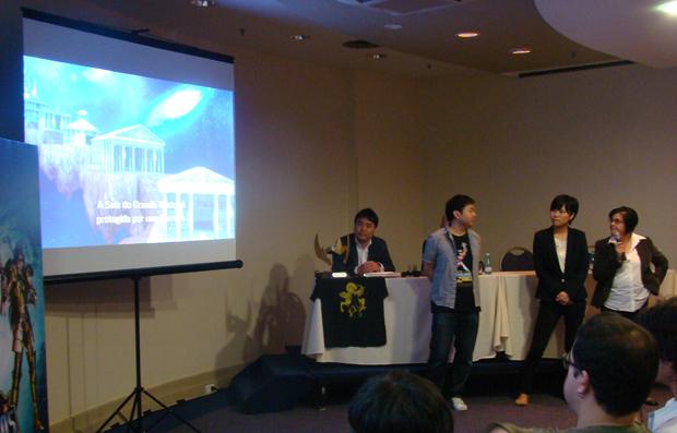 Produtores apresentam Cavaleiros do Zodíaco para PS3 (Foto: Felipe Vinha/TechTudo)