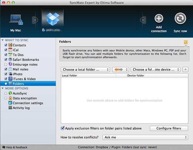 Configuração de pastas do Mac para serem salvas no Dropbox  (Foto: Reprodução/Pedro Pisa)