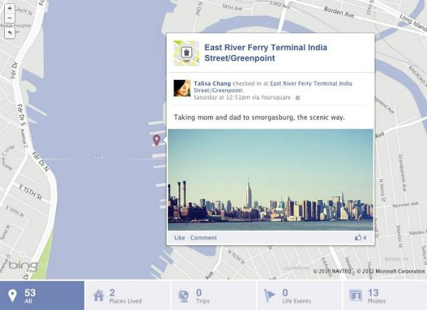Check-ins do Foursquare agora vão aparecer como os do Facebook Places (Foto: Reprodução)