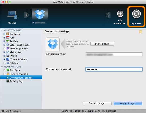 Sincronização para realizar o backup dos arquivos no Dropbox (Foto: Reprodução/Pedro Pisa)