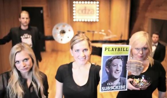 Musical em homenagem ao Facebook fez sucesso no YouTube (foto: Reprodução) (Foto: Musical em homenagem ao Facebook fez sucesso no YouTube (foto: Reprodução))