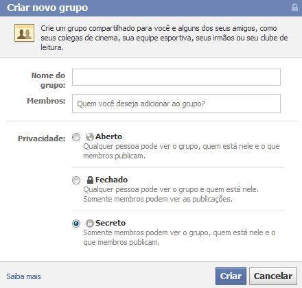 Segredos também podem ser guardados no Facebook (Foto: Reprodução)