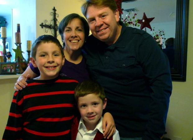 David com a sua família (Foto: Reprodução)