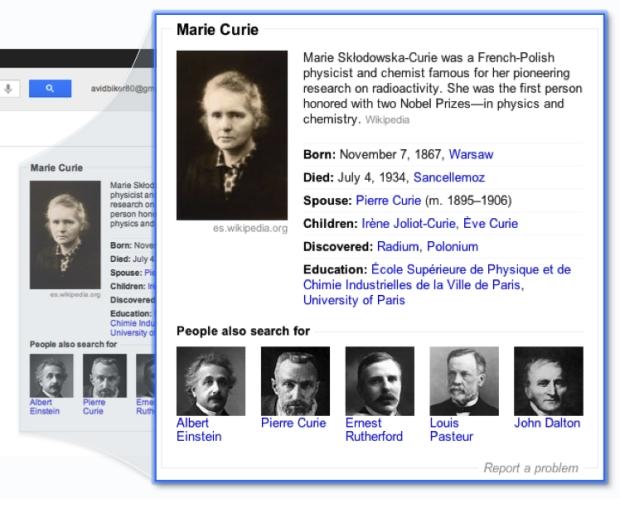 """""""Gráfico do Conhecimento"""" do Google: resultados mais precisos, com menos cliques (Foto: Reprodução/Google)"""