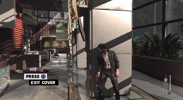 Max Payne agora pode usar o sistema de cobertura para a ação (Foto: Reprodução) (Foto: Max Payne agora pode usar o sistema de cobertura para a ação (Foto: Reprodução))
