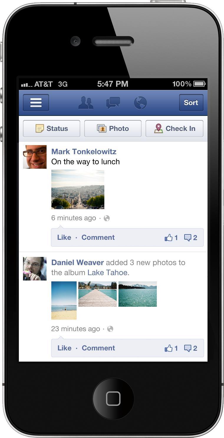Fotos agora são exibidas de maneira diferente no Facebook móvel (Foto: Reprodução)