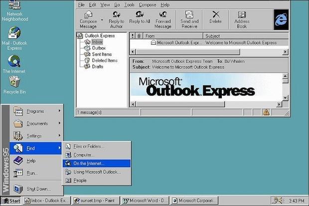 Windows 95 (Foto: Reprodução / BBC.co.uk)