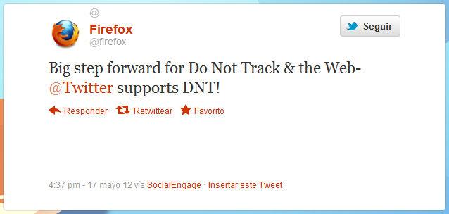 Mozilla festejou adesão do Twitter à ferramenta Do Not Track (Foto: Reprodução) (Foto: Mozilla festejou adesão do Twitter à ferramenta Do Not Track (Foto: Reprodução))