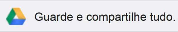 Figura 1: o logo do Google Drive e o convite exibido na janela do Google Docs