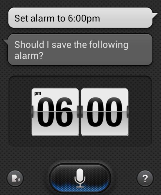 Configurando o alarme no S Voice no Galaxy X (Foto: TechTudo/Rodrigo Bastos)
