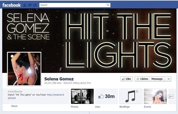 Página de Selena Gomez no Facebook, hackeada por britânico (Foto: Reprodução)