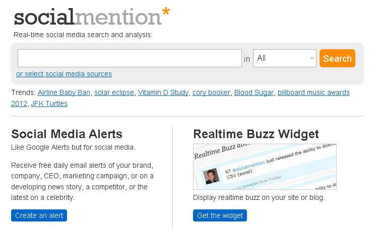 Social Mention (Foto: Reprodução)