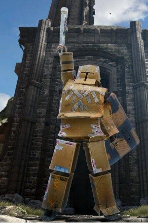 """""""Cardboard Hero"""" é uma das novas armaduras (Foto: Divulgação)"""