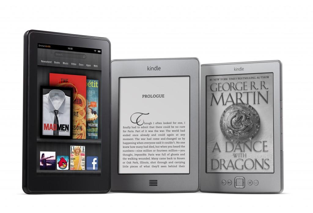 Família de Kindles da Amazon (Foto: Divulgação)