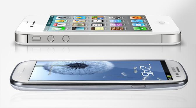 Galaxy SIII comparado com iPhone 4S (Foto: Reprodução)