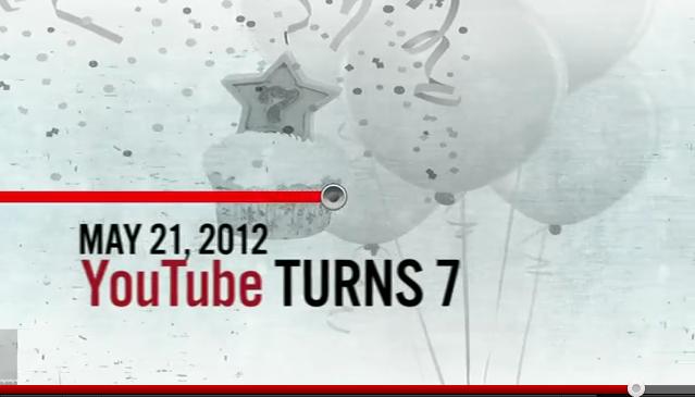 Imagem comemorativa do sétimo aniversário do YouTube (Foto: Reprodução/YouTube)