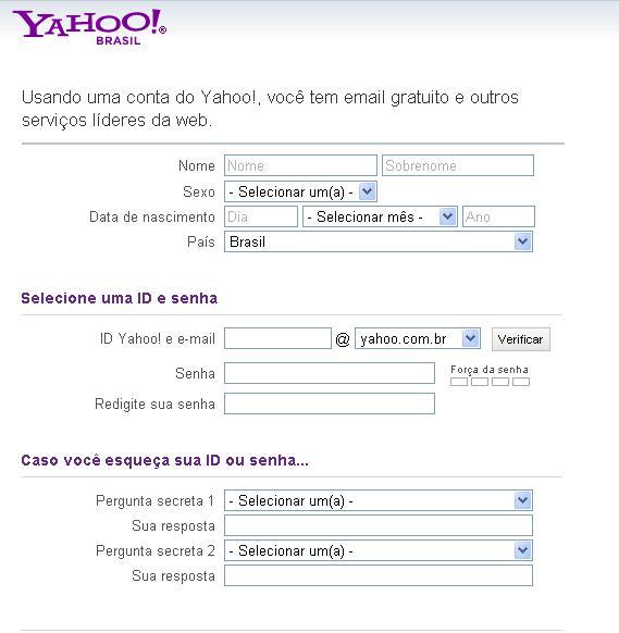Criando uma conta no Yahoo! Groups (Foto: Reprodução)