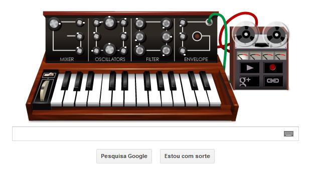 Robert Moog é homenageado por Doodle do Google (Foto: Reprodução/TechTudo)