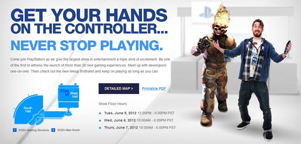 Sony não quer que você tire as mãos do controle na E3 2012 (Foto: Divulgação)