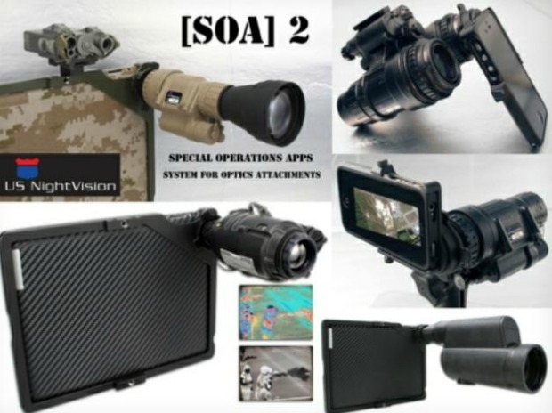 SOA 2 reúne diversos equipamentos táticos que podem ser combinados ao iPhone e ao iPad (Foto: Reprodução)