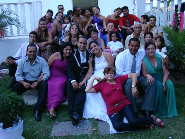 Vagner Basílio e a família do Rio de Janeiro.  (Foto: Vagner Basílio)