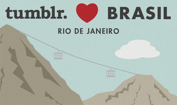 Convite da festa do Tumblr no Rio de Janeiro (Foto: Reprodução)