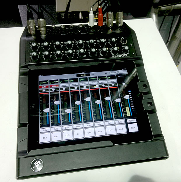 Mesa digital DL1608, da Mackie: processamento e controle via iPad (Foto: Mesa digital DL1608, da Mackie: processamento e controle via iPad)