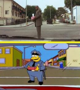 Tumblr dedicado aos Simpsons faz comparações como a do filme Pulp Fiction (Foto: Reprodução)