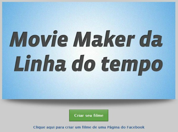 Interface do site Timeline Movie Maker (Foto: Reprodução)