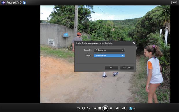 Visualizando fotos em slideshow no PowerDVD (Foto: reprodução/Teresa Furtado)