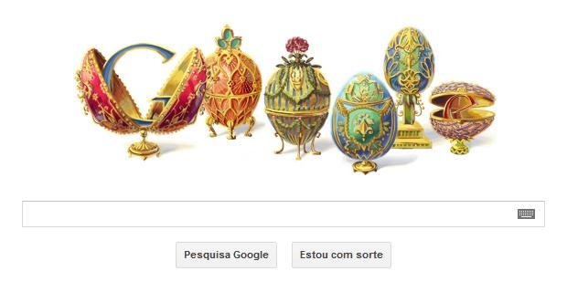 Google comemora o 166º aniversário de Peter Carl Fabergé (Foto: Reprodução/Google)