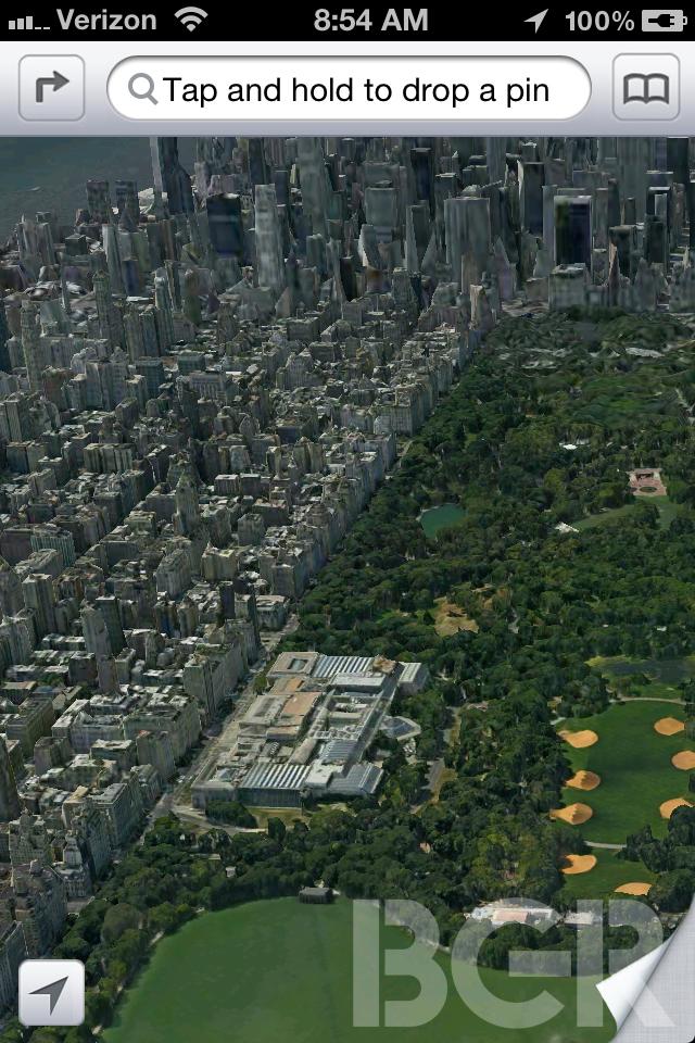 Novo Maps terá funcionalidade 3D para os usuários do iOS 6  (Foto: Reprodução/BGR)