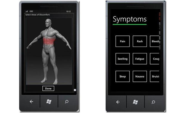 Com a ajuda da interface, o paciente pode explicar seus sintomas para um médico (Foto: Reprodução)