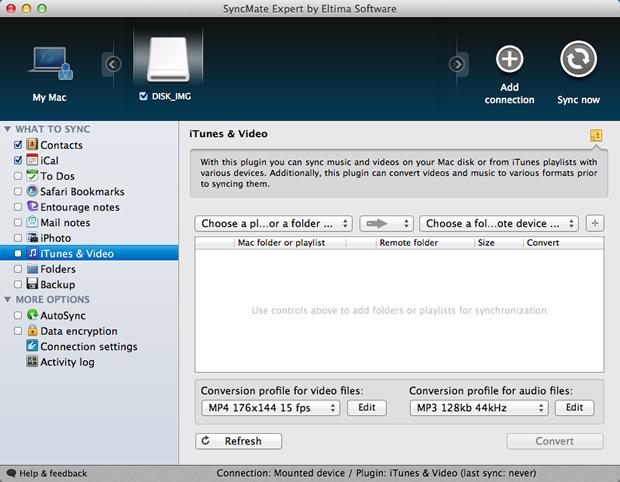 Configurações do backup do iTunes para músicas e vídeos (Foto: Reprodução / Pedro Pisa)