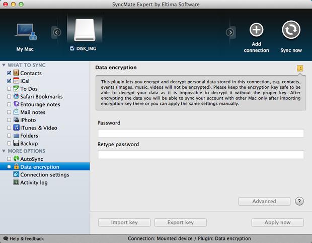 Configurações de encriptação dos dados do backup (Foto: Reprodução / Pedro Pisa)