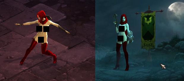 Personagem Hunter de Diablo 3 nua (Foto: NudeCreator)
