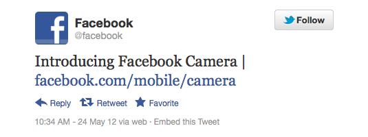 O Twitter oficial do Facebook não soltou nenhuma nota, último tweet deles foi do dia 24 (Foto: Reprodução/Twitter)