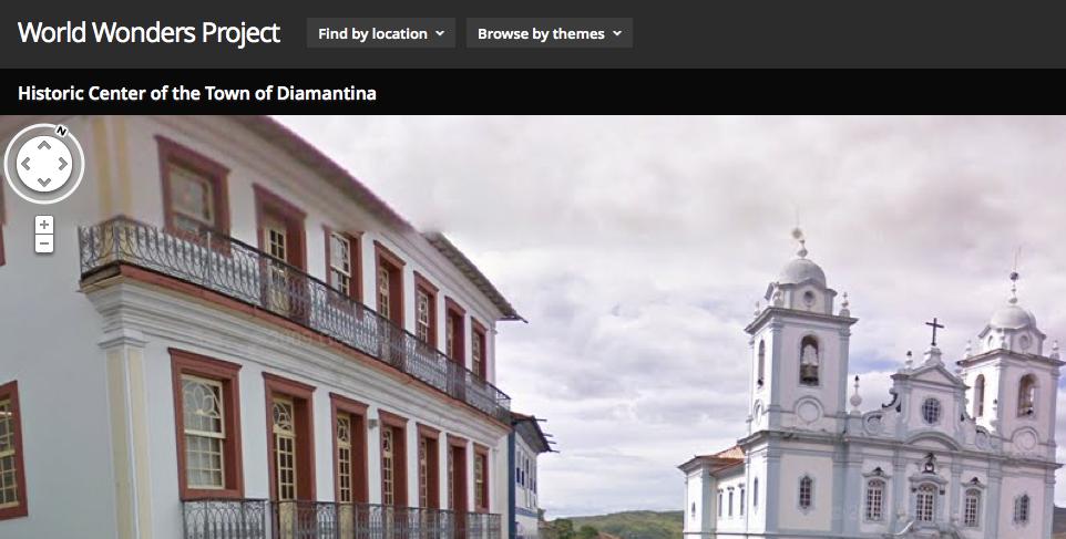 Diamantina está entre os lugares escolhidos pelo Google para representar as Maravilhas do Mundo (Foto: Reprodução/Google)